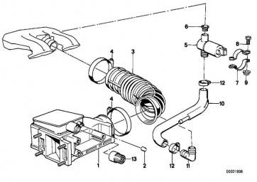 Austausch Luftmengenmesser mit CO-Poti  3er 5er Z3  (13627547980)