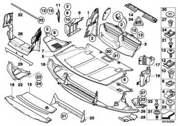 Motorraumabschirmung vorn  5er  (51757159659)