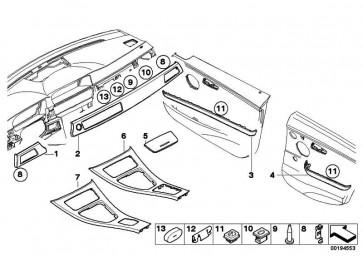 Dekorleiste Instrumententafel rechts DIAMANTSCHWARZ  3er  (51456985892)