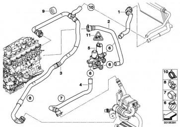 Schlauch Standheizgerät-Motorrücklauf  3er  (64126961603)