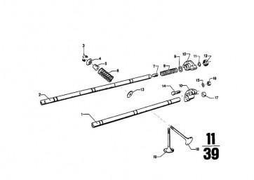 Auslassventil 38MM TURBO        (11341262658)