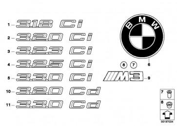 Emblem geklebt hinten - 325CI -       3er  (51147025254)