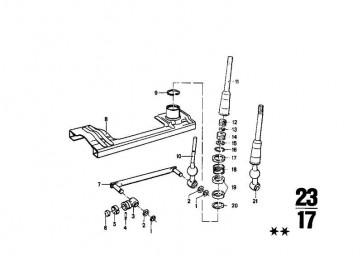Schalthebel-Unterteil   5er 3er  (25111205870)