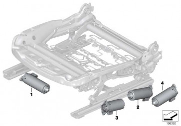 Motor Sitzlängsverstellung  3er 1er Z4 X1 X3 X4  (67316973592)