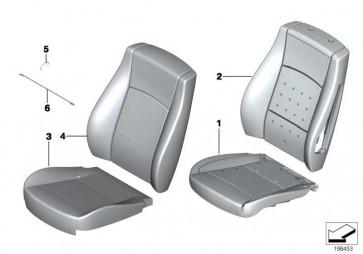 Bezug Basis Sitz Kunstleder SCHWARZ         X1  (52102992583)