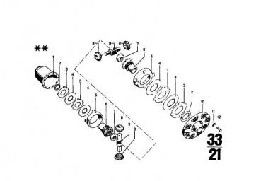 Anlaufscheibe 2,40MM           3er  (33141201911)