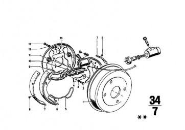 Bremsträger rechts D=230             (34211101751)