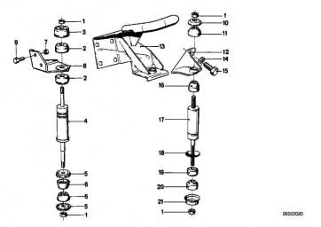 Sechskantmutter selbstsichernd M8-8-ZNNI SI 1er  3er 5er 6er 7er 8er M1 X1 X3 X5 X6 Z1 Z3 Z4 Z8 MINI  (07129906196)