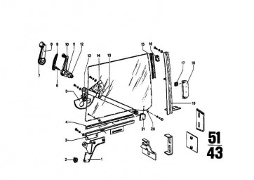 Fensterkurbel mit Abdeckung   5er  (51321809764)