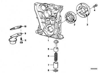 Abschlussdeckel mit Ölpumpe  5er 3er Z3  (11141739525)