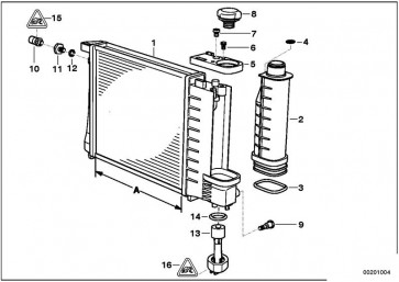 Kühlmittelkühler A=520MM         (17111737763)