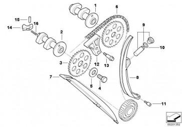 Kettenspanner/Schraube/Dichtring M18X1,5X10  (11317728883)
