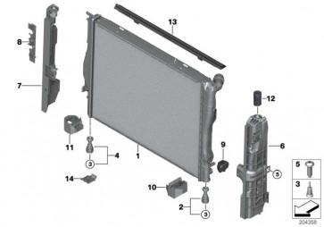 Kühlmittelkühler  3er 1er Z4 X1  (17117562079)