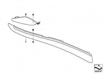 Verkleidung Mittelkonsole vorne links INDIVIDUAL      X5 X6  (51167968051)
