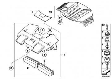 Luftfiltereinsatz rechts  X5 X6  (13717589641)