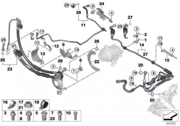 Dehnschlauch Adaptive Drive 1. Teil  X5  (32416785921)