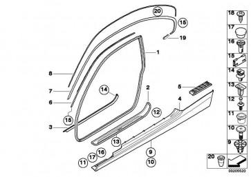 Verbindungsklammer Dachleiste links  3er  (51767208057)