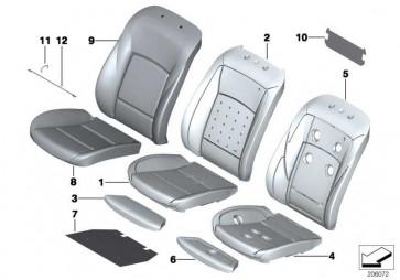 Bezug Basis Sitz Leder LCDE EV.GRAU    5er  (52107230655)