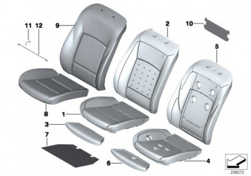 Bezug Komfort Sitz Klimaleder NAD5 SAT.BRAUN 7er  (52107255101)