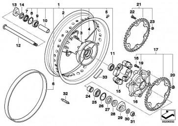 Speichenrad hinten 4.25X17 K72 K75  (36318564177)