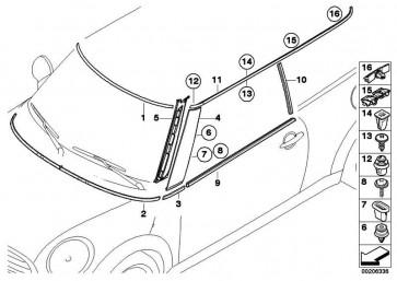 Blende B-Säule links  MINI  (51137146099)