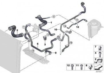 Kühlmittelschlauch  X5  (17127537101)