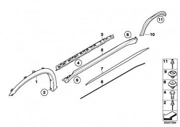 M Blende Radlauf grundiert hinten links  X5  (51777206867)
