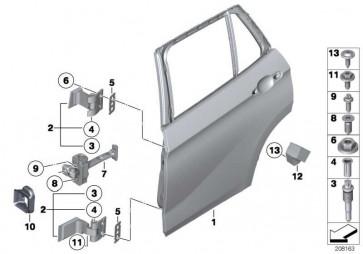 Türscharnier hinten oben rechts  X1  (41522993112)