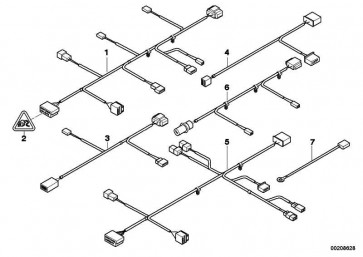 Adapterleitung Lordose/LBV links  Z4  (61129198665)