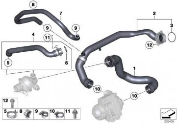 Wasserschlauch Vorlauf/Wärmetauscher  X6 X5  (11537589949)