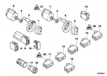 Knopf für Schalter Nebelscheinwerfer  7er 5er  (61316911041)