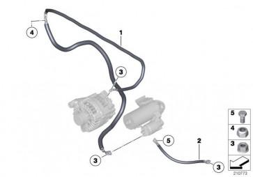 Kabel Generator-Anlasser-Stützpunkt B+  3er X1  (12428509105)