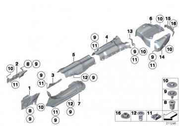 Halter Wärmeisolierung Tank links  5er 6er 7er  (51487185209)