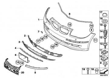 Verkleidung Stossfänger vorne Vollack. CODE - UNI/MET. 1er  (51110035909)