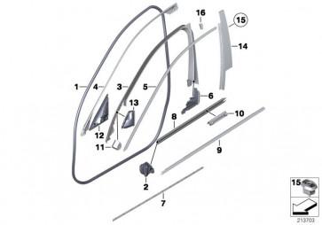 Abdichtung Schliessblech B-Säule rechts (51337182280)