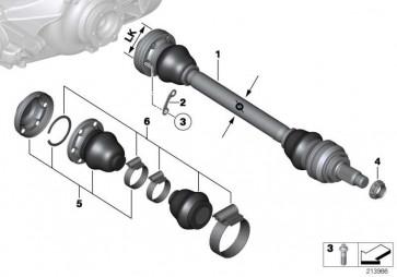 Austausch Abtriebswelle rechts LK=80MM/D=26MM  3er 1er  (33217547072)