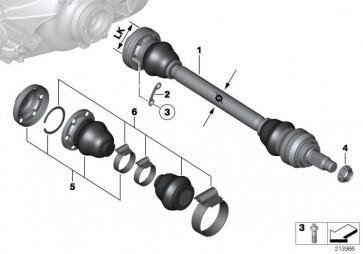 Austausch Abtriebswelle rechts LK=86MM/ D=38MM (33207589058)