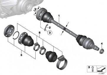 Austausch Abtriebswelle links LK=94MM/D=27MM  3er  (33207604601)