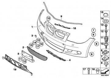 Verkleidung Stossfänger lackiert vorn CODE - UNI/MET. 1er  (51110033553)