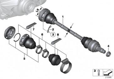 Austausch Abtriebswelle LK=86MM/D=34MM  (33207582141)