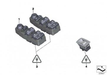 Schalter Fensterheber schwarz  X3  (61319202019)
