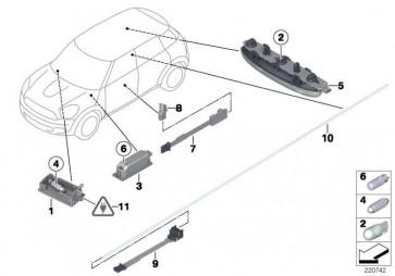 Lichtleiter Türöffner innen rechts  MINI  (63312754024)
