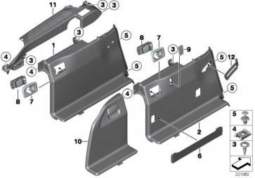 Verkleidung Gepäckraum links SCHWARZ         5er  (51477234737)