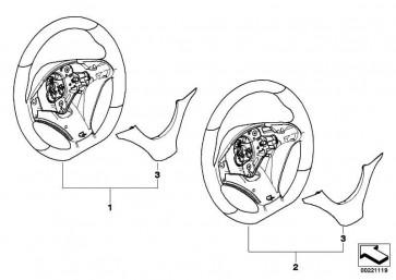 Abdeckung Lenkrad Alcantara BMW PERFORMANCE X5 X6  (32302181581)