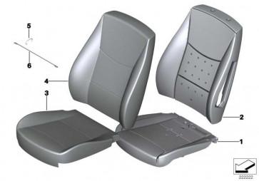 Bezug Basis Sitz Leder SATTELBRAUN X3 X4  (52107375918)