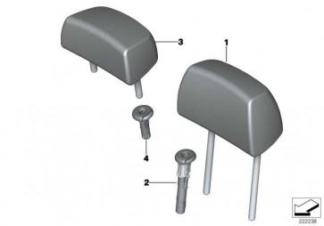 Kopfstütze Leder SCHWARZ         X3  (52207256541)
