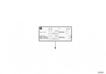 Hinweisschild Reifendruck  5er  (71246850036)