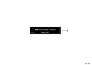 Hinweisschild ARKTISSILB.-MET 5er Z3  (71212122375)