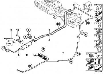 Kraftstofffilter  1er 3er 7er X1 5er X3 6er 4er 2er X4 MINI  (16127451424)