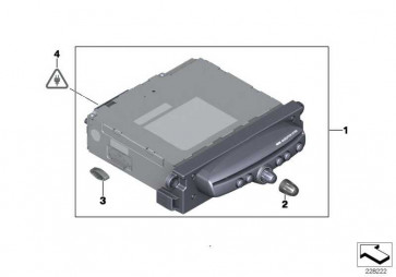Austausch CHAMP 2 Navigation DAB             MINI  (65123456946)
